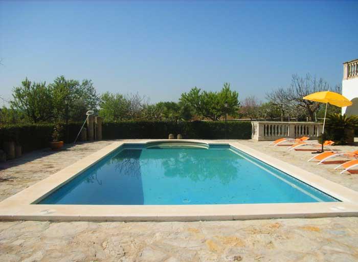 Poolblick 2 Finca Mallorca 8 Personen PM 410