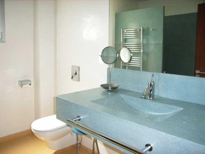 Modernes Badezimmer Ferienhaus Mallorca mit Pool PM 446