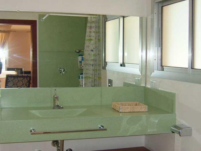Modernes Badezimmer 2 Ferienhaus Mallorca mit Pool PM 446