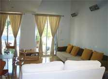 Moderner Wohnraum 2 Ferienhaus Mallorca mit Pool PM 446