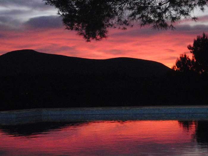 Sonnenuntergang Finca Arta Mallorca 10 Personen PM 574