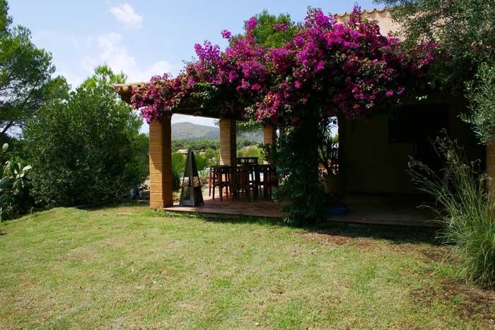 Überdachte Terrasse Finca Arta Mallorca 10 Personen PM 574