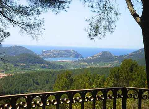 Meerblick Ferienhaus Mallorca 10 Personen Pool PM 109