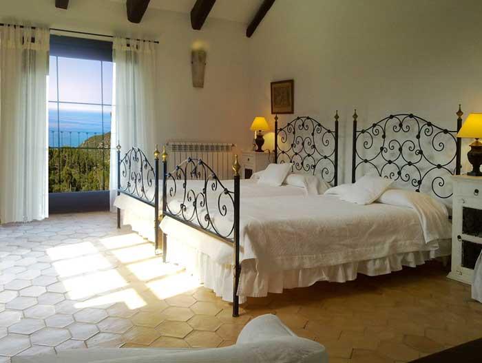 Schlafzimmer mit Meerblick Exklusive Finca Mallorca PM 233