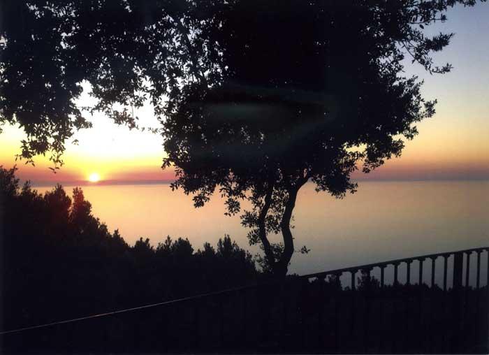 Sonnenuntergang am Meer Finca Mallorca Westküste PM 233