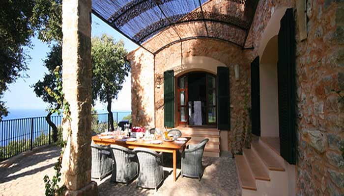 Terrasse mit Panoramablick  Exklusive Finca Mallorca PM 233