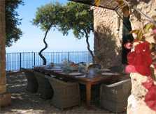 Terrasse mit Meerblick Exklusive Finca Mallorca Westküste PM 233