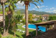 Blick in die Landschaft Finca Mallorca mit Pool für 8 Personen PM 3023