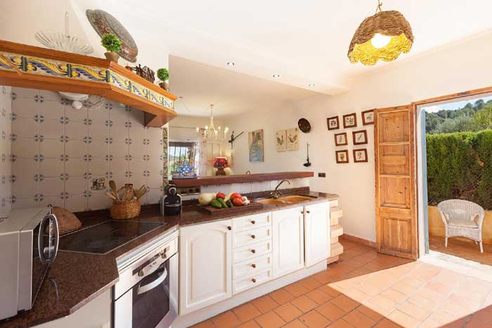 Küche2 Finca Mallorca mit Pool für 8 Personen PM 3023