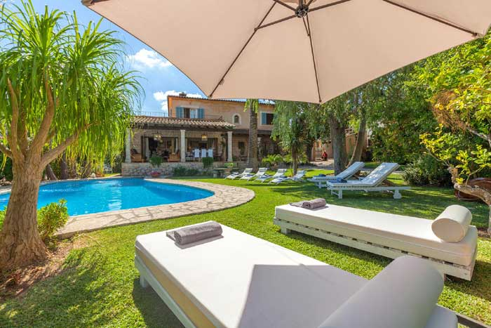Pool und Garten Finca Mallorca mit Pool für 8 Personen PM 3023