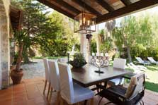 Überdachte Terrasse Finca Mallorca mit Pool für 8 Personen PM 3023