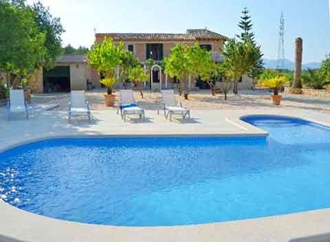 Pool der großen Finca Mallorca PM 3066 für 12 - 13 Personen