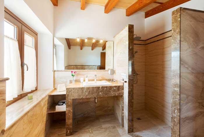 Duschbad Finca Mallorca Privatpool 3 Schlafzimmer 6 Personen PM 3067