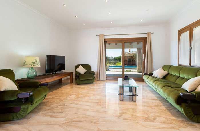Wohnzimmer Finca Mallorca mit Pool für 6 Personen PM 3067