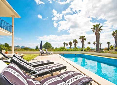 Pool Großes Ferienhaus Mallorca mit Meerblick und in Strandnähe PM 3326