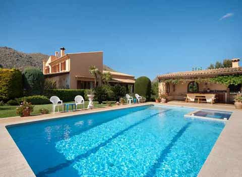 Pool Große Finca Pollensa Mallorca mit Klimaanlage für 12 Personen PM 3328