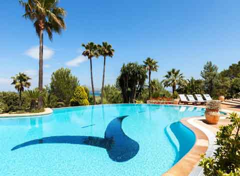 Großer Pool Luxusfinca Mallorca für 12 Personen PM 3329