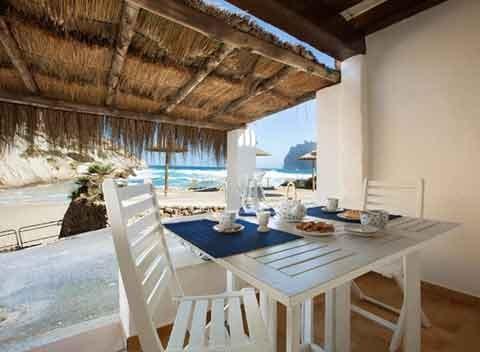 Terrasse und Meerblick Ferienhaus Mallorca PM 3482