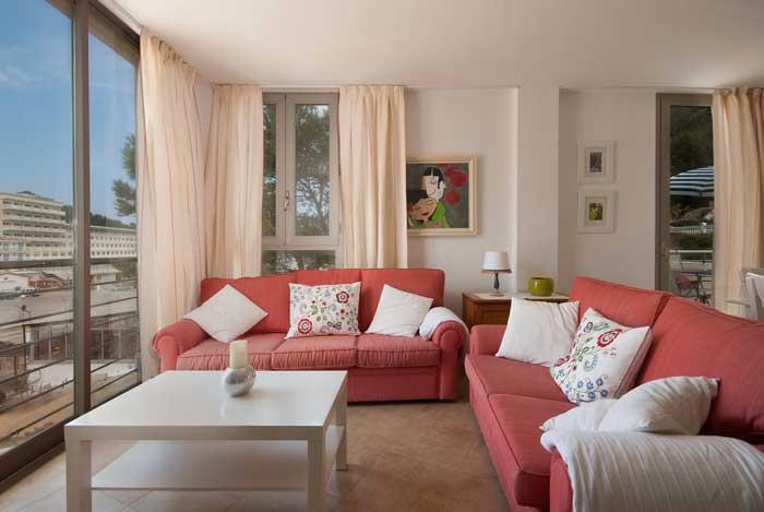 Wohnzimmer Ferienhaus Mallorca 3 Schlafzimmer Strandnah Pool PM 3491