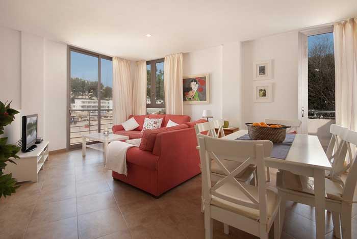 Wohn/Essbereich Ferienhaus Mallorca mit Pool und Strandnähe 6 Personen PM 3491