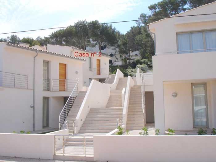 Blick auf Ferienhaus Mallorca in Strandnähe mit Pool PM 3492