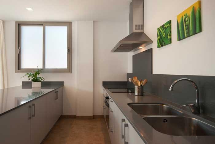 Ausgestattete Küche Ferienhaus Mallorca Pool Strandnähe Klimaanlage PM 3493