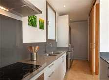 Küche Ferienhaus Mallorca Pool 50 m zur Cala San Vicente Klimaanlage PM 3493
