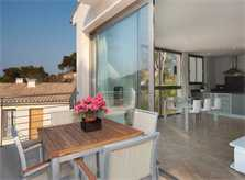 Möblierte Terrasse Ferienhaus Mallorca Pool Internet Strandnah PM 3493