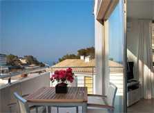 Terrasse Ferienhaus Mallorca mit Pool Strandnähe WLAN Aircondition PM 3493