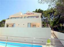 Ansicht Ferienhaus Mallorca am Strand Pool Aircondition Internet 6 Personen PM 3494