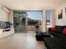 Wohnzimmer Ferienhaus Mallorca Strandlage WIFI Pool 6 Personen PM 3494