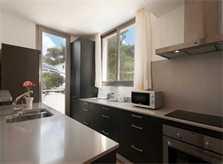 Moderne Küche Ferienhaus Mallorca am Strand  6 Personen Pool Klimaanlage PM 3495