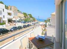Blick von der Terrasse Ferienhaus Mallorca Cala San Vicente Pool 6 Personen PM 3497