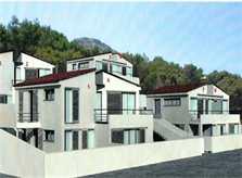 Blick auf Ferienhausanlage Mallorca Gemeinschaftspool Strandnähe Klimaanlage PM 3493