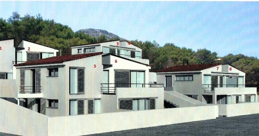 Blick auf Ferienhaus Mallorca Strandlage Pool Internet Klimaanlage PM 3494