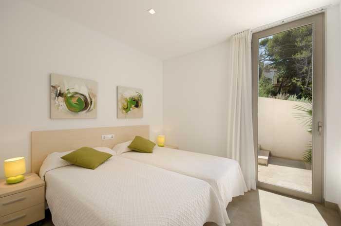 Schlafzimmer Ferienhaus Mallorca in Strandnähe Gemeinschaftspool 6 Personen PM 3498