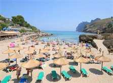 Strand Cala Molins Ferienhaus Mallorca mit Pool Strandnah Internet PM 3491