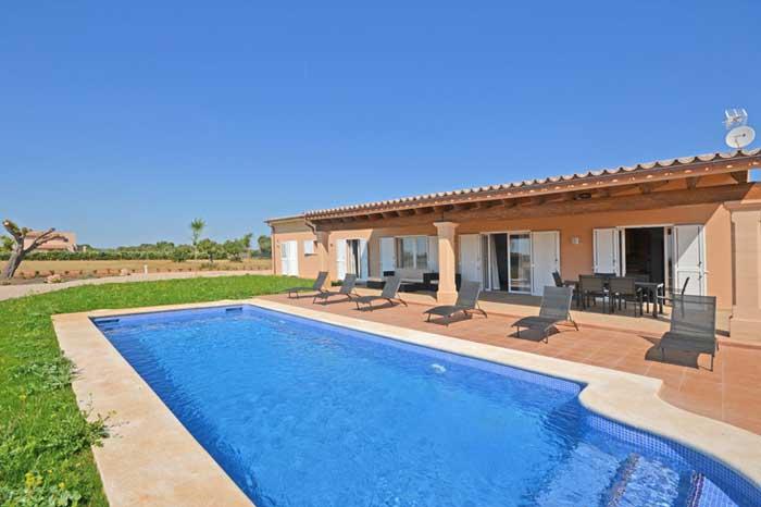 Poolblick 2 Finca Mallorca mit Pool PM 3709