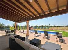 Terrasse 2 Finca Mallorca mit Pool PM 3709