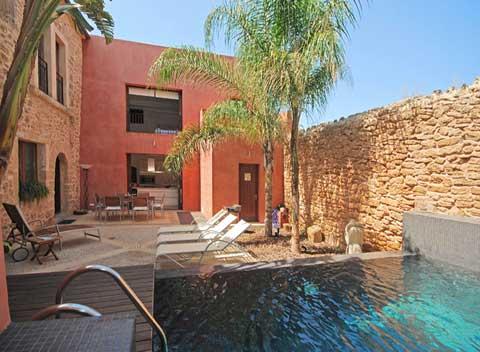 Poolblick Exklusives Dorfhaus Mallorca Alcudia 6 - 8  Personen PM 3711