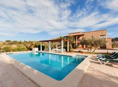 Großer Pool Ferienhaus Mallorca Norden für 10 Personen PM 3726