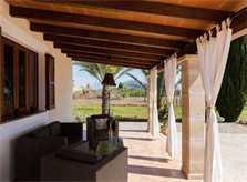 Terrasse Finca Mallorca mit Pool PM 3812