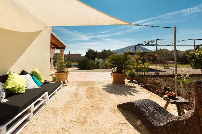 Terrasse 2 Finca Mallorca mit Pool PM 3812