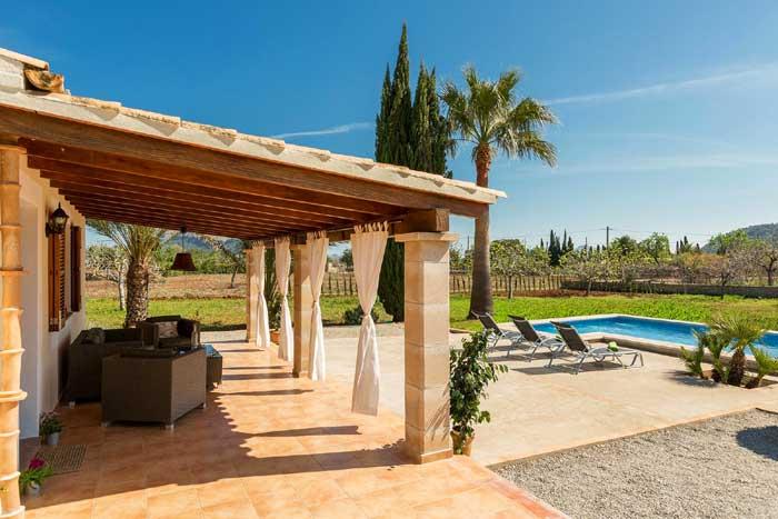 Pool und Terrasse Kleine Finca Mallorca PM 3812