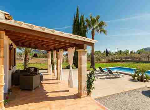 Pool und Terrasse Finca Mallorca Pollenca PM 3812