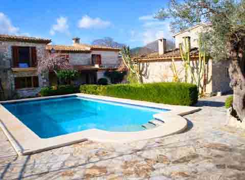 Poolblick Finca Mallorca Norden für 10 Personen PM 384