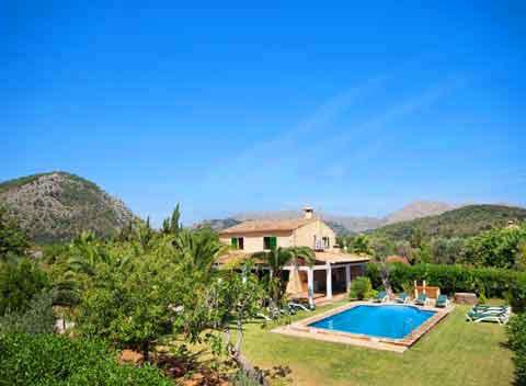 Pool  und Finca Mallorca Pollensa für 10 Personen PM 388