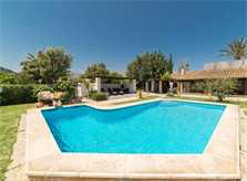 Poolblick 4 Finca Mallorca Pollensa für 6 Personen PM 3886