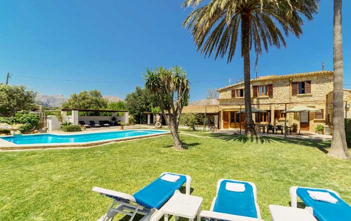 Poolblick 7 Finca Mallorca Pollensa für 6 Personen PM 3886