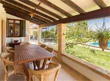 Terrasse 4 Finca Mallorca mit Pool für 6 Personen PM 3886